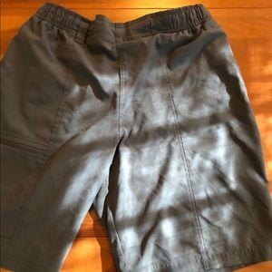 Columbia sports shorts.